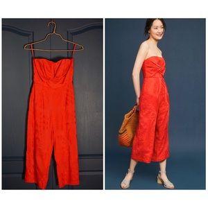 Anthropologie Aijek Natalie Embroidered Jumpsuit
